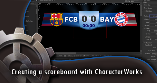 Creating scoreboard with CharacterWorks