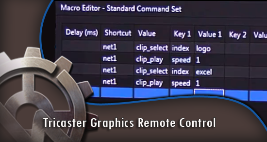 Tricaster Graphics Remote Control