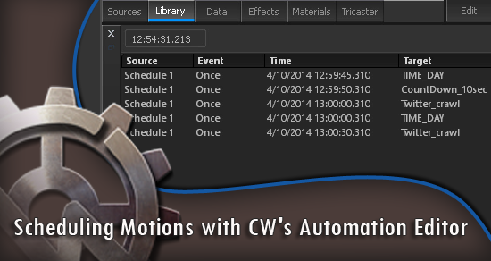 Scheduling Motions with CW's Automation Editor