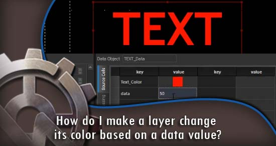 How do I make a layer change its color based on a data value?