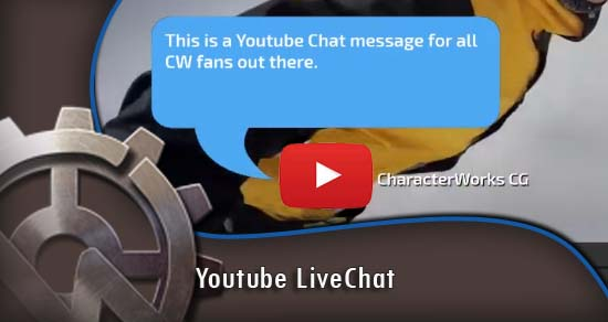 CharacterWorks in Support of Free Speech: Youtube LiveChat